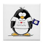 Kentucky Penguin Tile Coaster