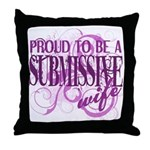 Proudly Submissive (PINK) Throw Pillow