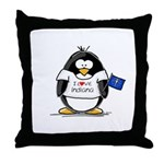 Indiana Penguin Throw Pillow