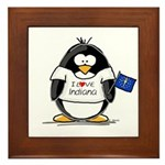 Indiana Penguin Framed Tile