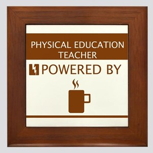 Physical Education Teacher Powered by Coffee Frame
