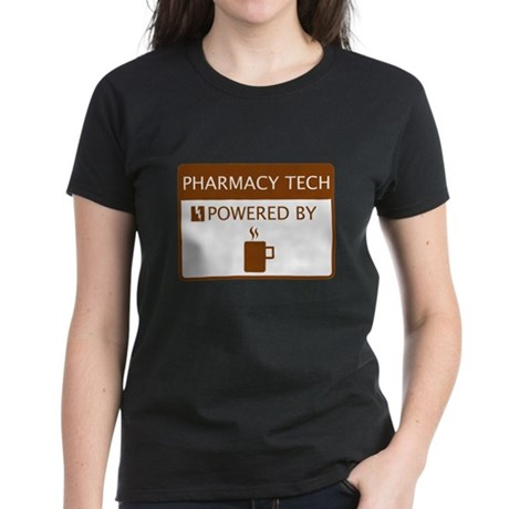 Pharmacy Tech Powered by Coffee Women's Dark T-Shi