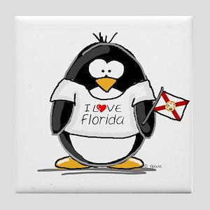Florida Penguin Tile Coaster