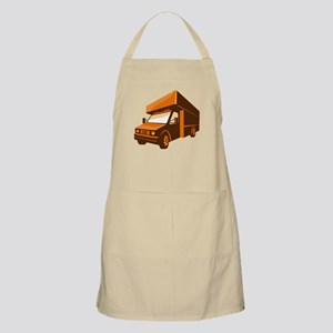 moving truck delivery van retro Apron