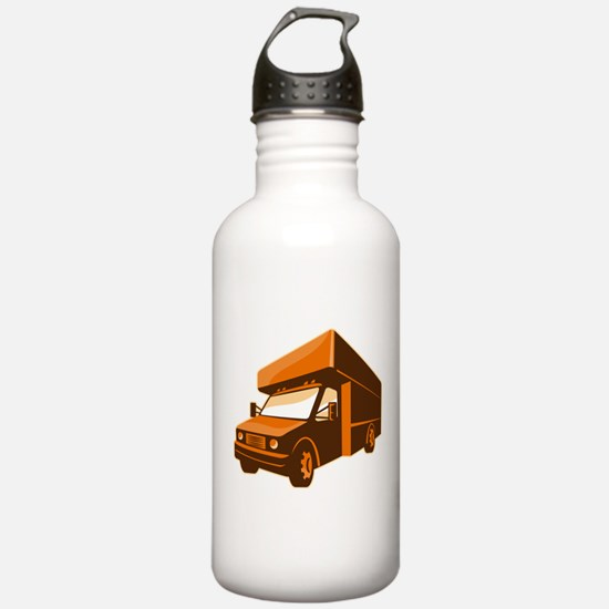 moving truck delivery van retro Water Bottle