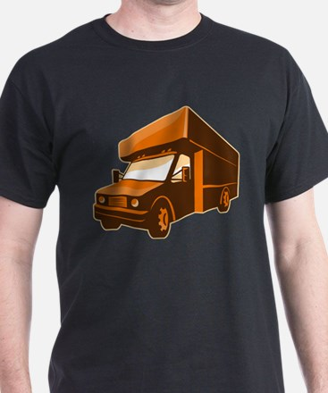 moving truck delivery van retro T-Shirt