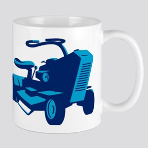 vintage ride on lawn mower retro Mug