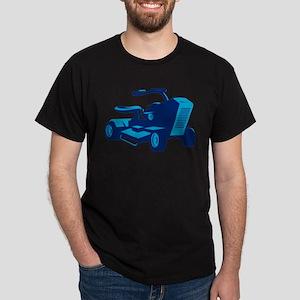 vintage ride on lawn mower retro Dark T-Shirt