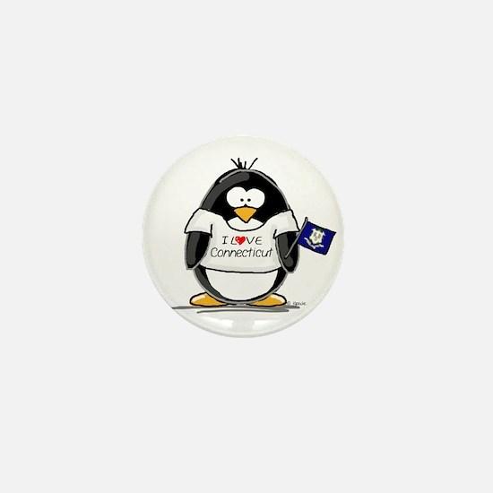 Connecticut Penguin Mini Button