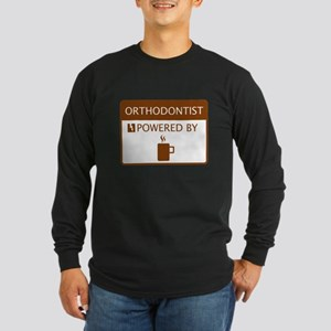 Orthodontist Powered by Coffee Long Sleeve Dark T-