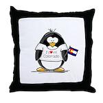 Colorado Penguin Throw Pillow