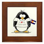 Colorado Penguin Framed Tile