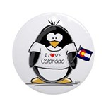 Colorado Penguin Ornament (Round)