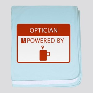 Optician Powered by Coffee baby blanket