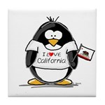 California Penguin Tile Coaster