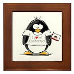California Penguin Framed Tile