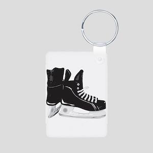 Hockey Skates Aluminum Photo Keychain
