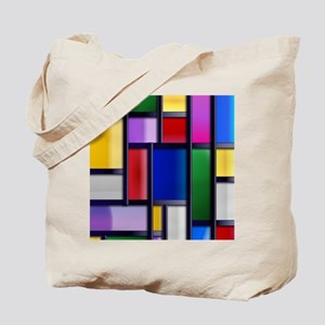 Cute Abstract Colorful rectangle pattern Tote Bag