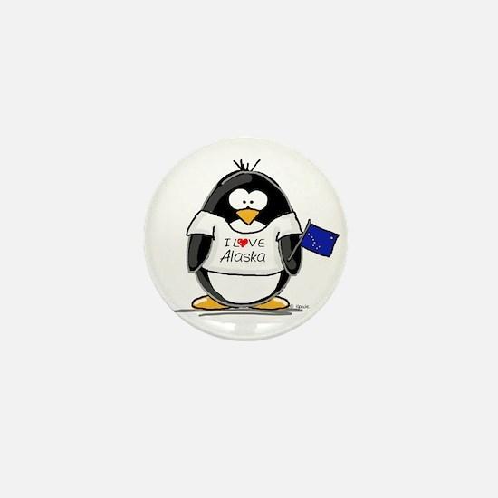 Alaska Penguin Mini Button