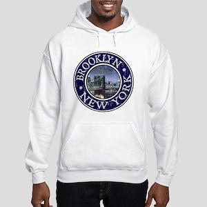 Brooklyn - Distressed Hooded Sweatshirt