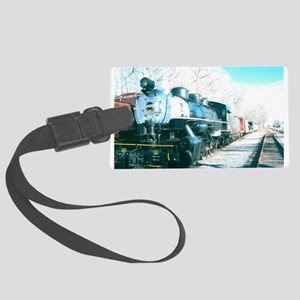Ride On My Favorite Train. Large Luggage Tag