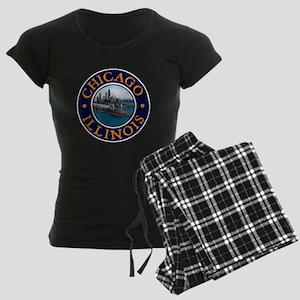 Chicago Women's Dark Pajamas
