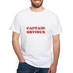 Captain Obvious White T-Shirt