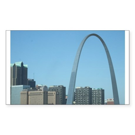 St. Louis Arch Sticker (Rectangle)