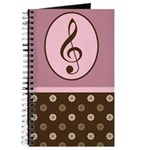 Musician Gift Treble Clef Notebook Journal