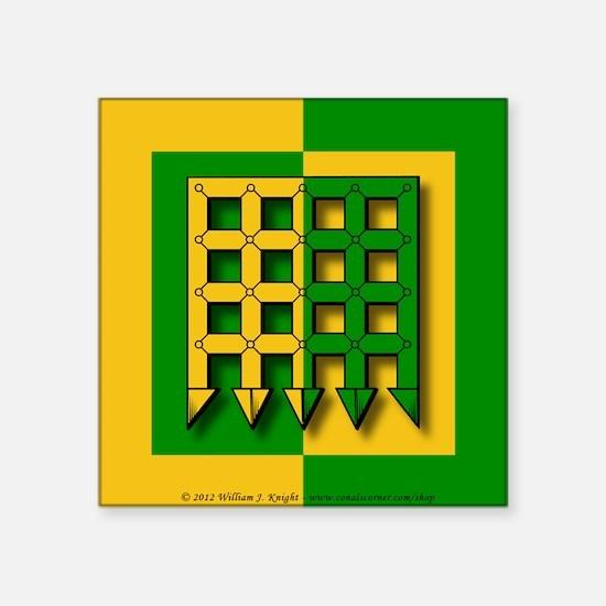 """Unser Hafen Populace Square Sticker 3"""" x 3"""""""