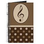 Music Practice Journal Treble Clef Journal