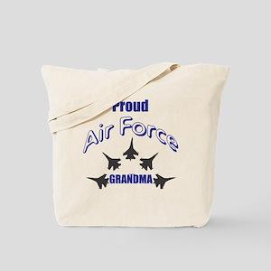 Proud Air Force Grandma Tote Bag