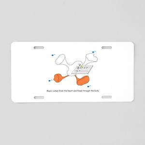 Speaker-Duck Aluminum License Plate