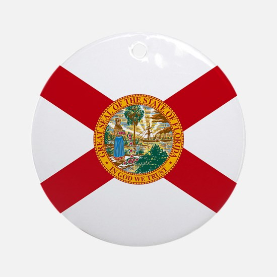 Florida State Flag Ornament (Round)