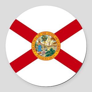 Florida State Flag Round Car Magnet