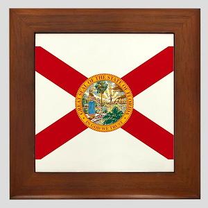 Florida State Flag Framed Tile