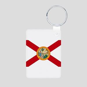 Florida State Flag Aluminum Photo Keychain