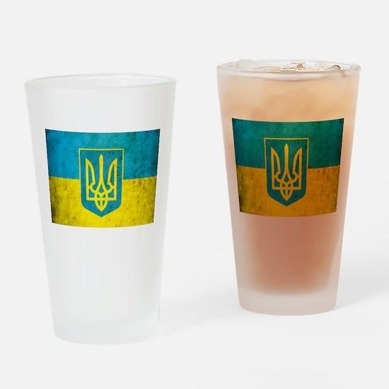 Vintage Ukraine Flag Drinking Glass