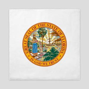 Florida State Seal Queen Duvet