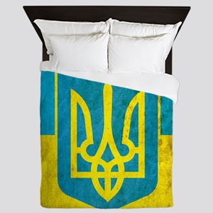 Vintage Ukraine Flag Queen Duvet