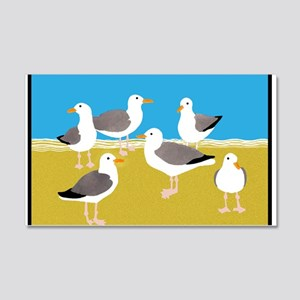 Gang of Seagulls at the Beach 20x12 Wall Decal