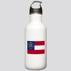 Georgia State Flag Stainless Water Bottle 1.0L