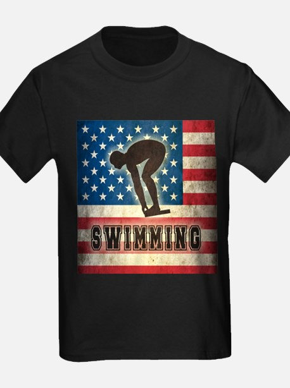 Grunge USA Swimming T