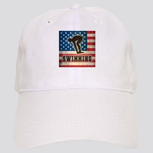 Grunge USA Swimming Cap