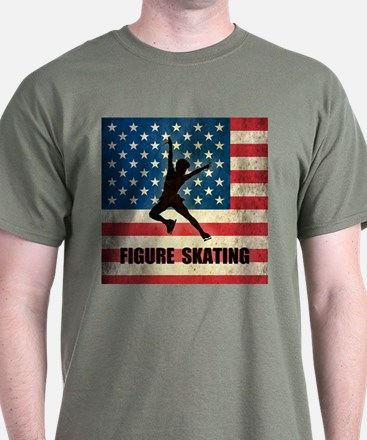 Grunge USA Figure Skating T-Shirt