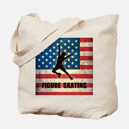 Grunge USA Figure Skating Tote Bag