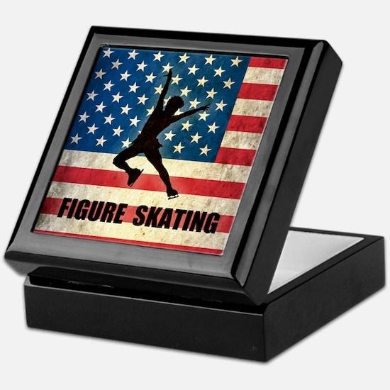 Grunge USA Figure Skating Keepsake Box