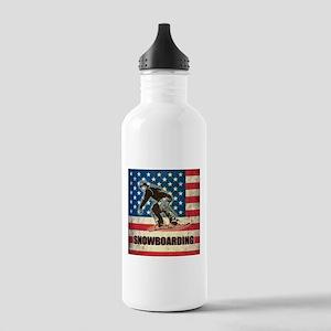 Grunge USA Snowboarding Stainless Water Bottle 1.0