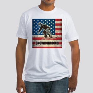 Grunge USA Snowboarding Fitted T-Shirt