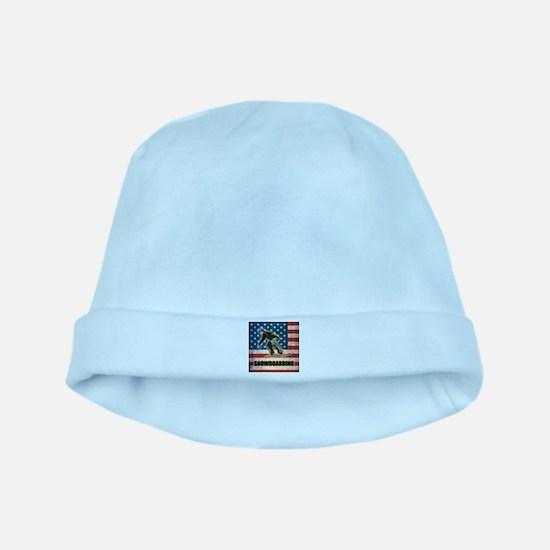 Grunge USA Snowboarding baby hat